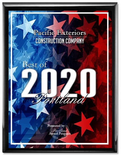 2020 Best of Portland Award for construction companies