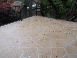 Flagstone Pattern Finish Suede Color Wash with White Grout