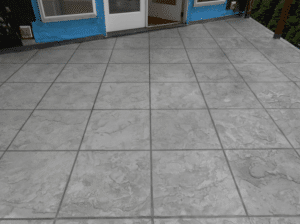 Tile Pattern Finish Ash Color Wash with Smoke Grout