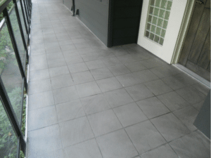 Tile Pattern Finish Charcoal Color Wash with Gray Grout